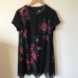 Taylor Black and Floral Dress